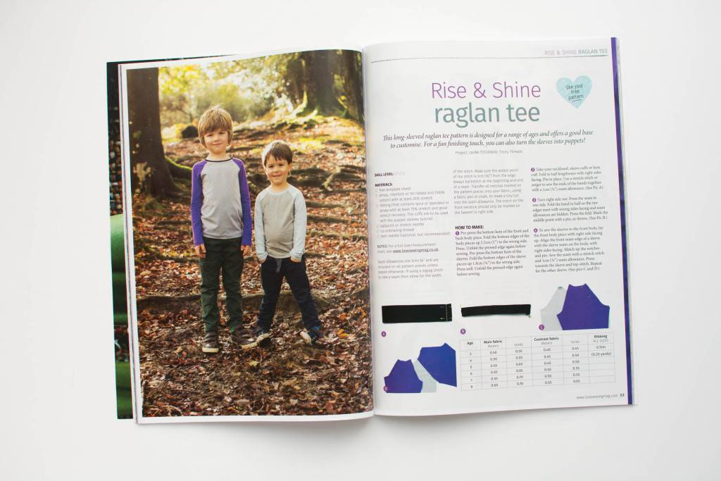 Rise and Shine Raglan in Love Sewing magazine