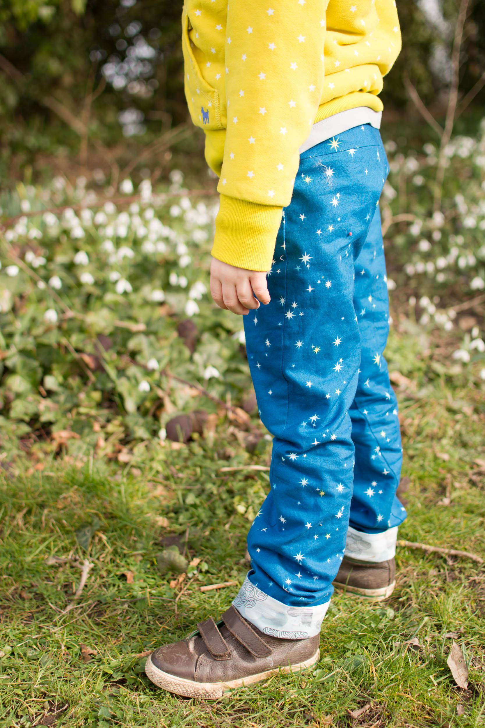 Star Twisted Trousers, pattern by Titchy Threads