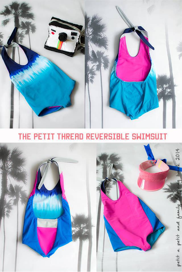 Azur reversible swimsuit by Titchy Threads and Petit a Petit and Family