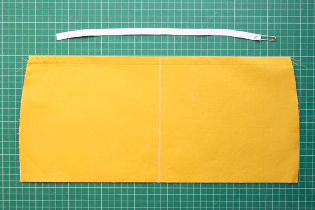 Elasticated pocket tutorial - step 5a