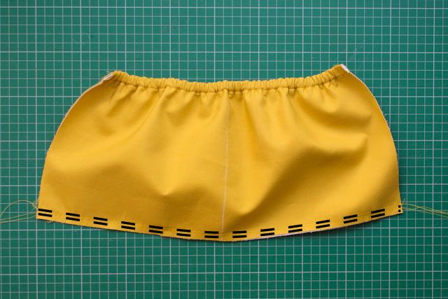 Elasticated pocket tutorial - step 6 annotated