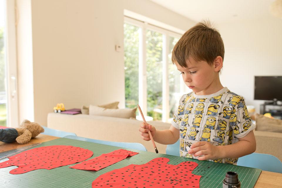 Ladybird spot fabric stamping 2