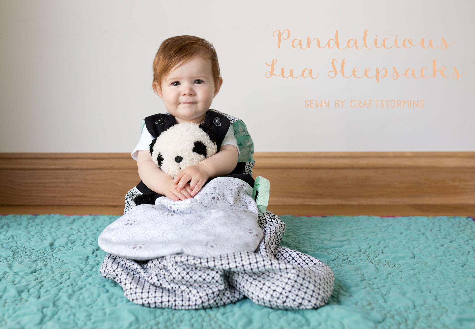 How cute is this?! Matching baby and panda softie sleepsacks in panda fabric!