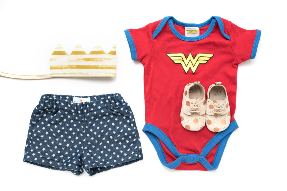 Wonder Woman outfit flat lay