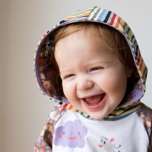 One rainbow safariraglan dress with a rowantee hood is onthebloghellip