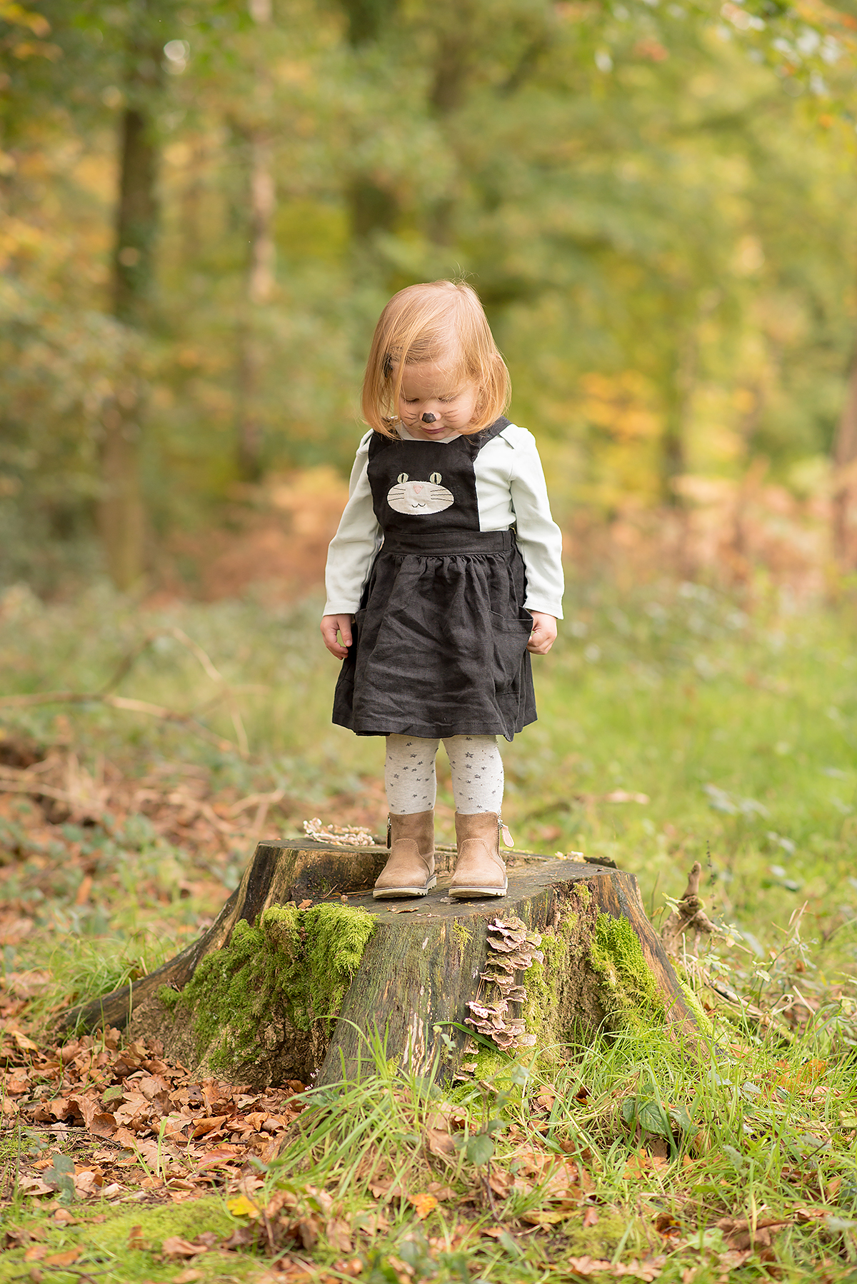 Black cat pinafore