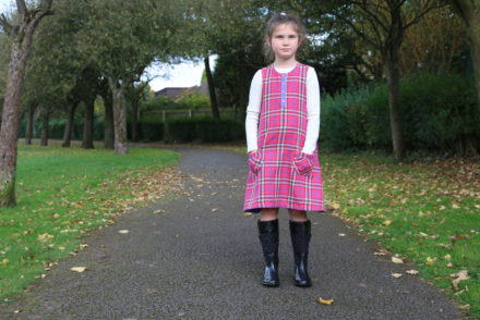 Autumnal Rushbrook Dress by Sew Many Adventures