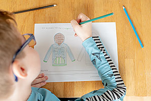 Rowan Tee Design Pack - colouring in sheet