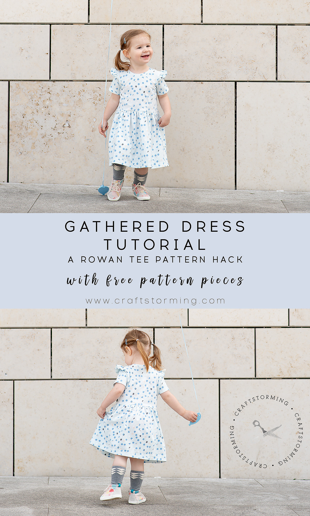 Craftstorming gathered dress tutorial
