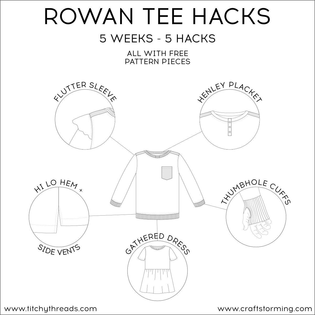 Rowan Tee Hacks Series: Flutter Sleeves Tutorial – Craftstorming