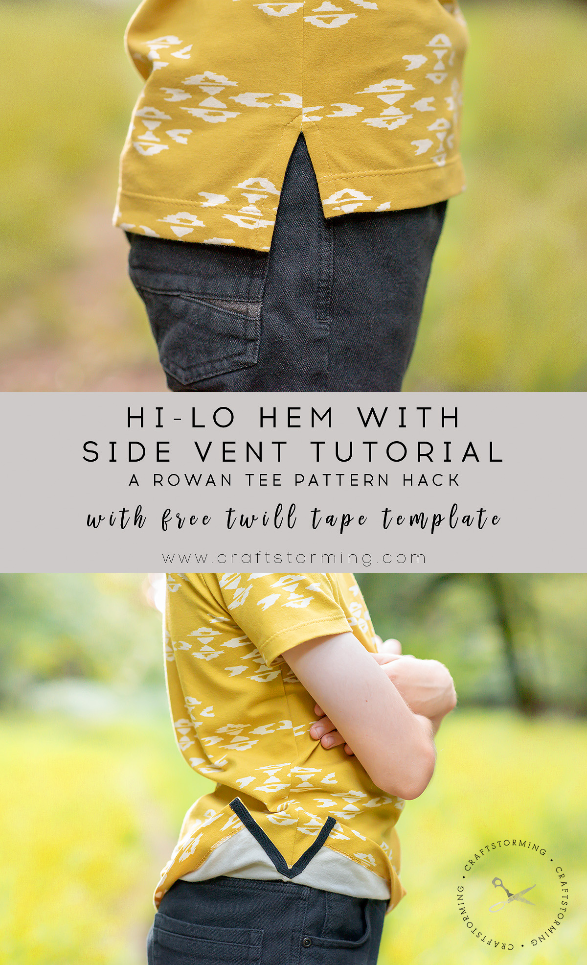 Craftstorming hi-lo hem side seam vent tutorial