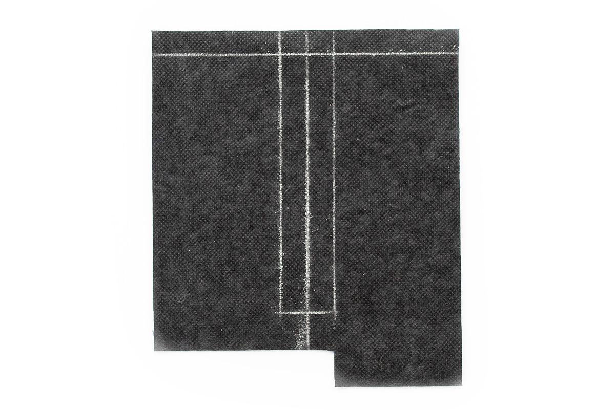 Titchy Threads Rowan Tee henley placket tutorial - prep placket marking