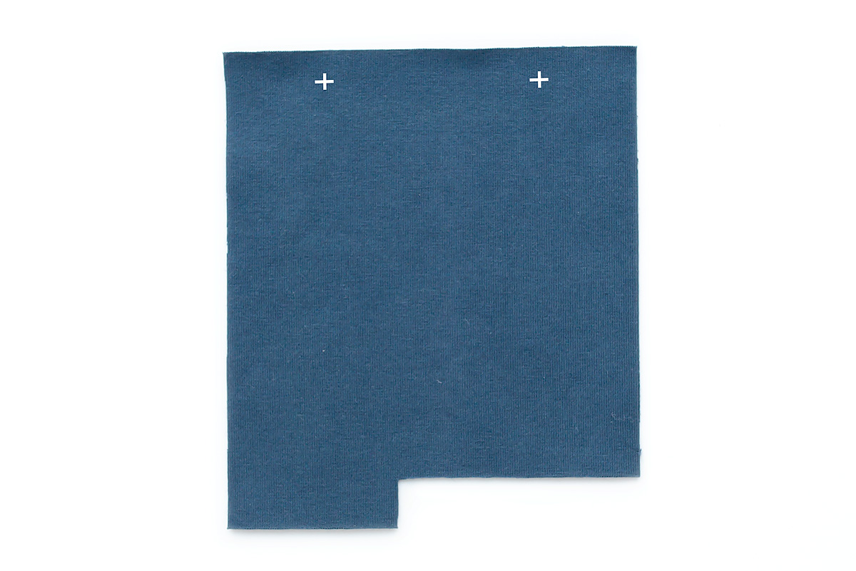 Titchy Threads Rowan Tee henley placket tutorial - prep placket marking right side