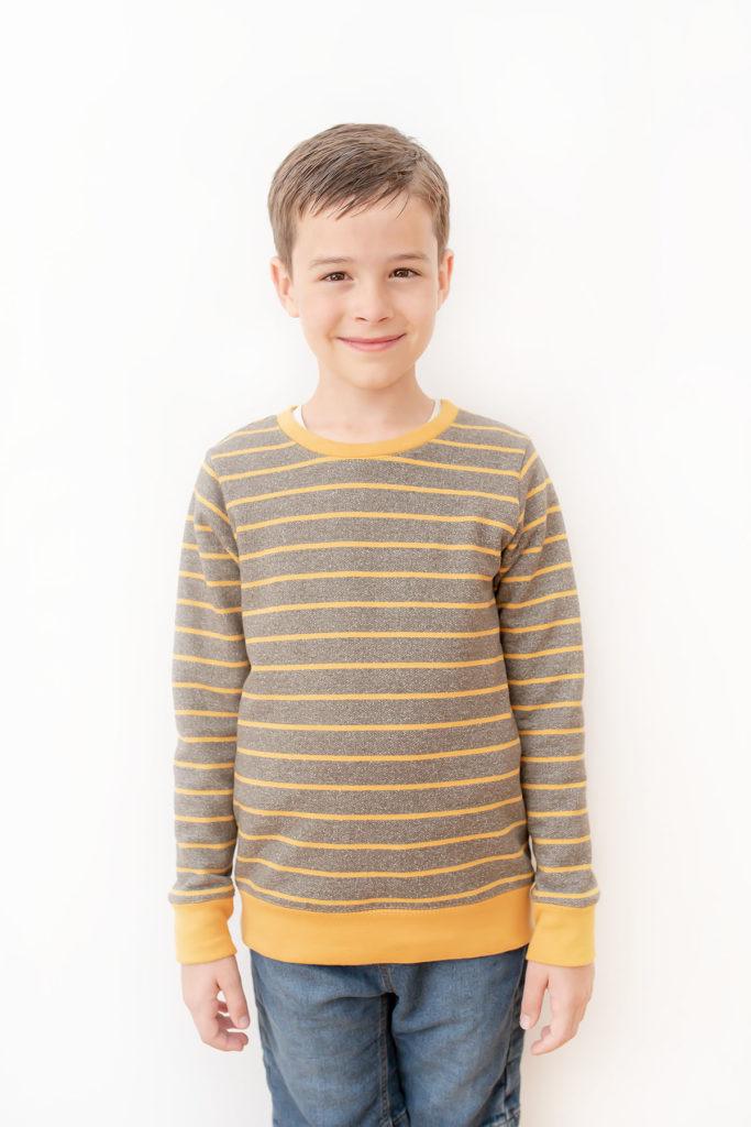 Quadrant Sweatshirt pdf sewing pattern by Titchy Threads - View A