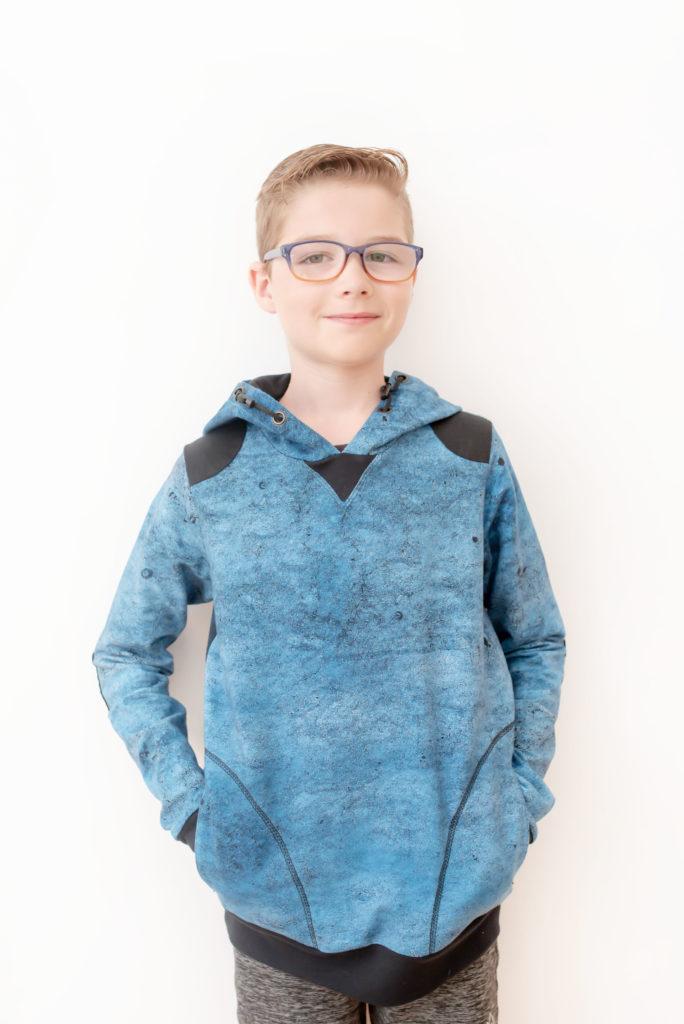 Quadrant Sweatshirt pdf sewing pattern by Titchy Threads - View C