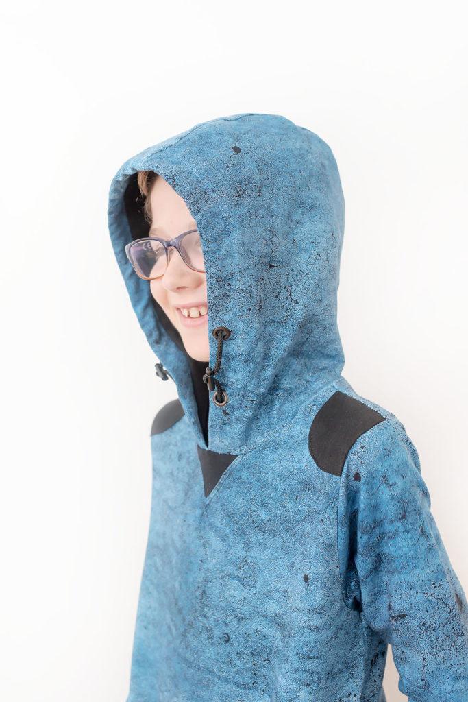 Quadrant Sweatshirt pdf sewing pattern by Titchy Threads - View C hood